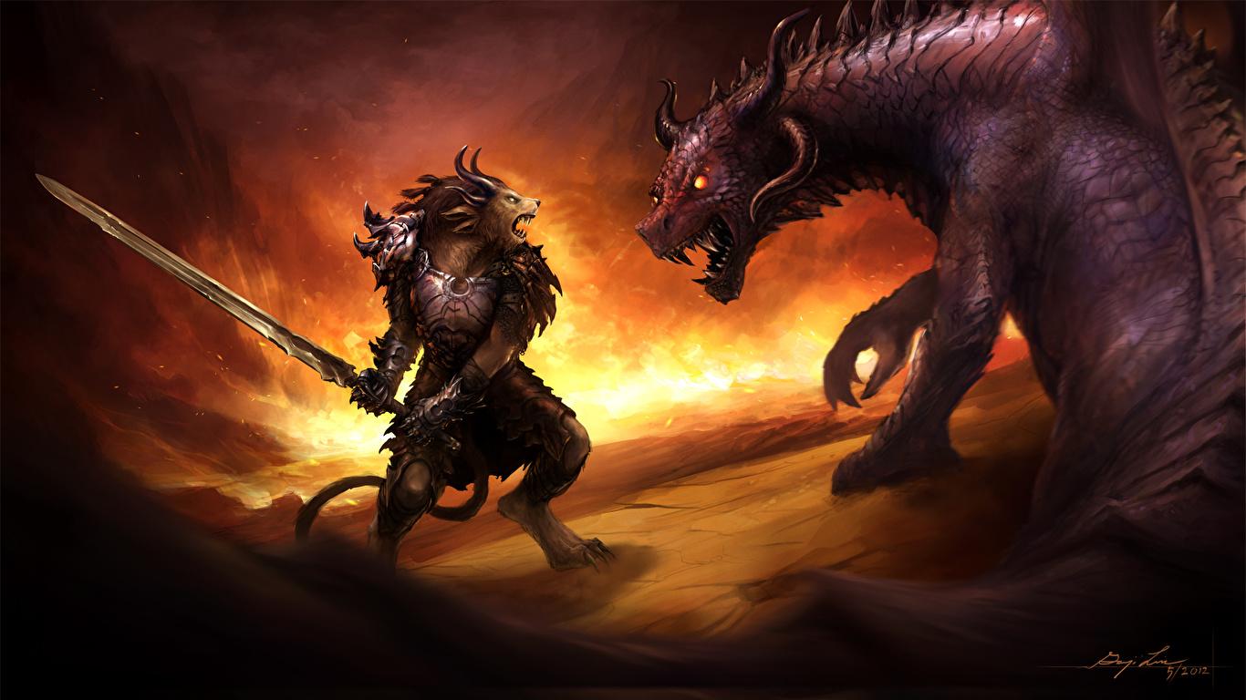 Красивые обои и картинки драконов для рабочего стола - подборка 9