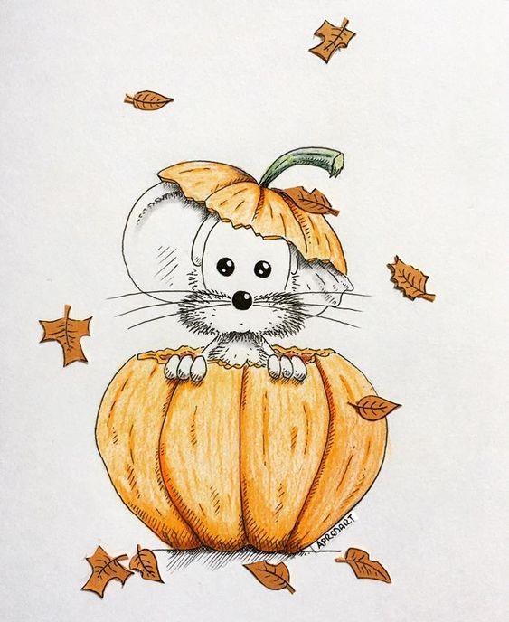 Прикольные и красивые картинки, рисунки животных для срисовки 16