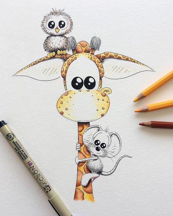 Прикольные и красивые картинки, рисунки животных для срисовки 6