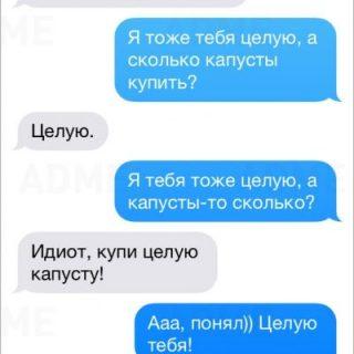 Смешные и забавные смс-переписки с любимой девушкой 5