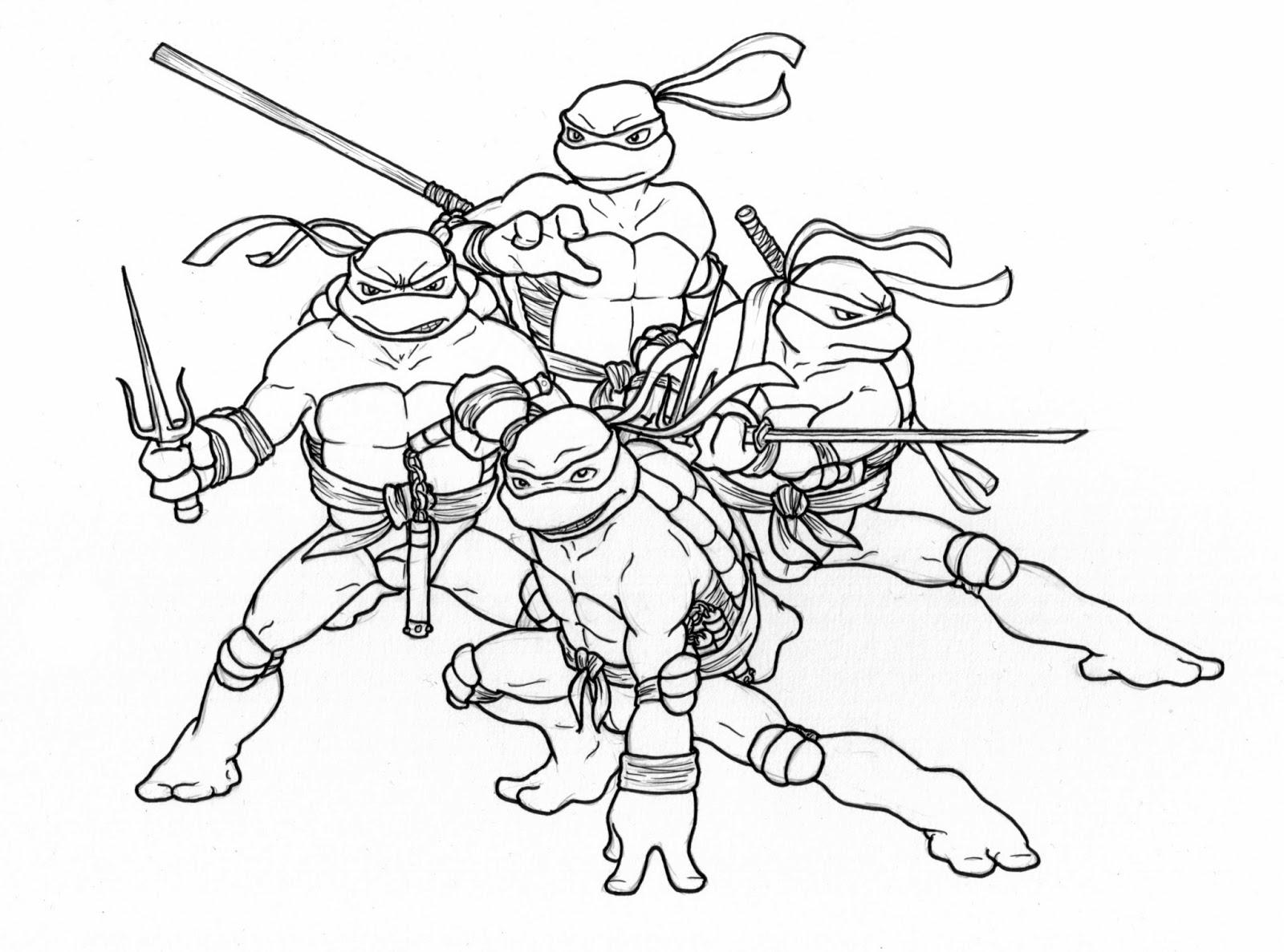 Черепашки Ниндзя - красивые картинки раскраски, рисунки 10