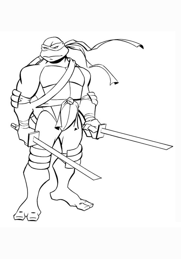 Черепашки Ниндзя - красивые картинки раскраски, рисунки 18