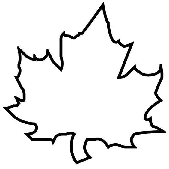 Шаблон кленовый лист, интересные рисунки шаблоны кленовый лист 11