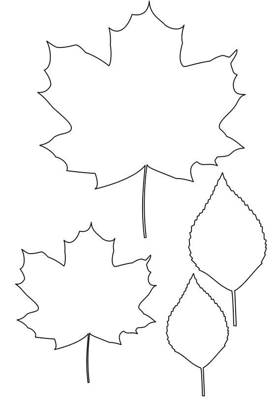 Шаблон кленовый лист, интересные рисунки шаблоны кленовый лист 16