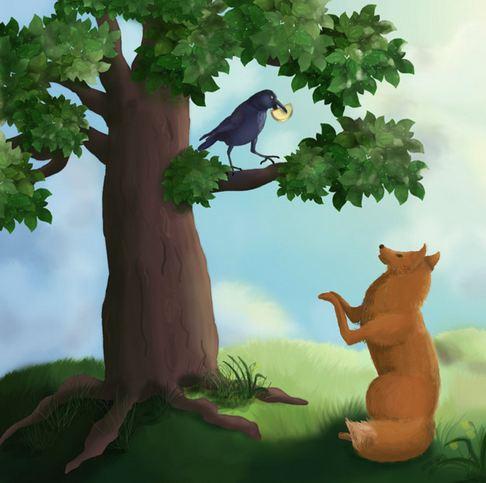Картинки, картинки ворона и лисица