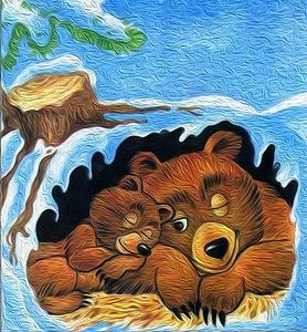 Медведь в берлоге картинки для детей - красивые и прикольные 2