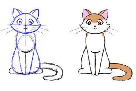 Рисунок кошки карандашом - прикольные и красивые картинки 7