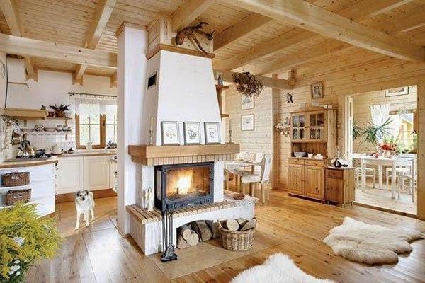 Интерьер дачного дома внутри - фото и картинки 6