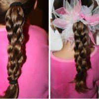 Легкие прически для девочек - быстрые и простые варианты 4