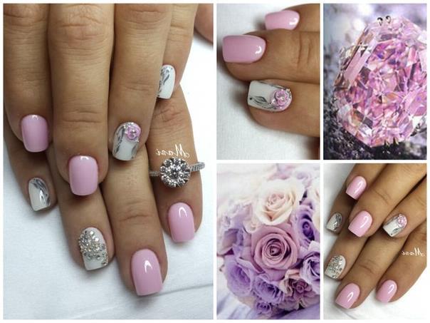 Идея маникюра на короткие ногти фото - красивый дизайн ногтей 1