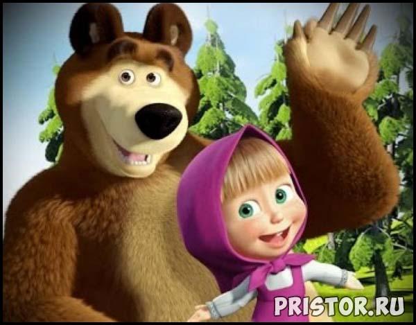 Маша и Медведь - картинки из мультфильма, прикольные, смешные 9