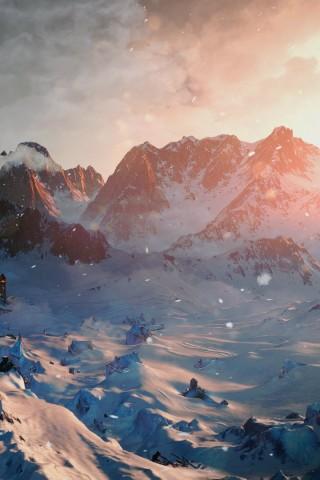 Картинки зима на телефон - красивые и прикольные скачать бесплатно 17