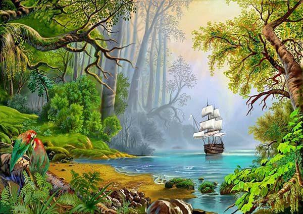 Природа картинки нарисованные, охрана природы картинки красивые 1