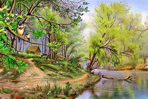 Природа картинки нарисованные, охрана природы картинки красивые 9