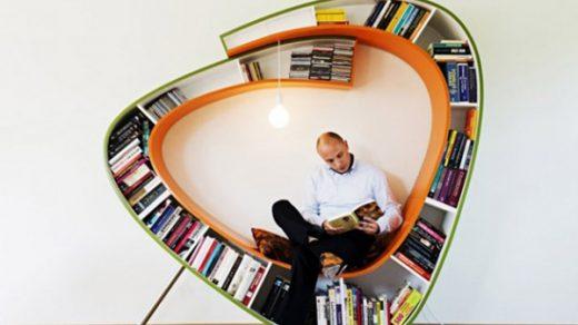 Интересные фото книжных полок - красивые, прикольные 20