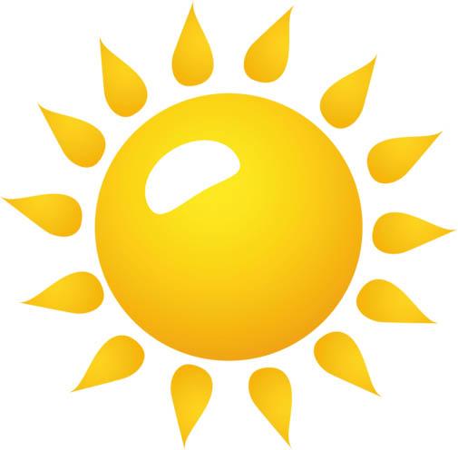 Картинки солнышка с улыбкой и лучиками - для детей, смотреть 1