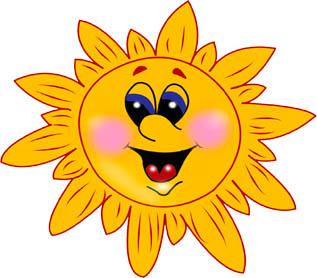 Картинки солнышка с улыбкой и лучиками - для детей, смотреть 10