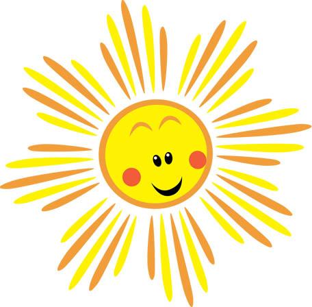 Картинки солнышка с улыбкой и лучиками - для детей, смотреть 12
