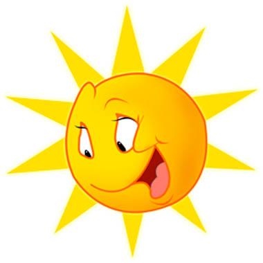 Картинки солнышка с улыбкой и лучиками - для детей, смотреть 2
