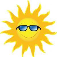Картинки солнышка с улыбкой и лучиками - для детей, смотреть 8