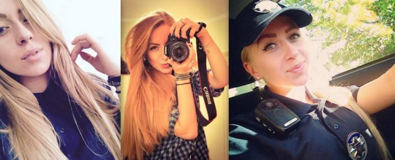 Красивые девушки в форме полиции - смотреть фото бесплатно 12
