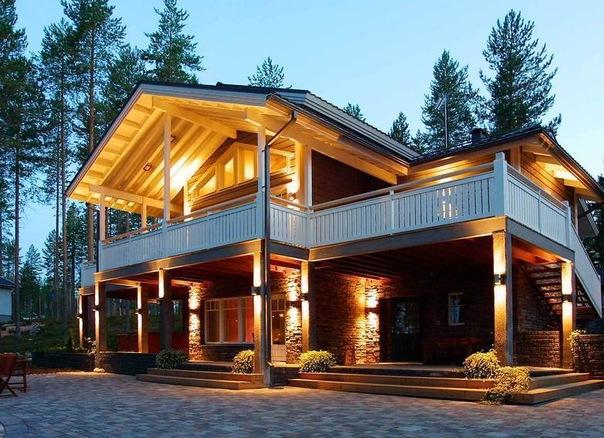 Удивительные и красивые деревянные дома - фото, картинки 11