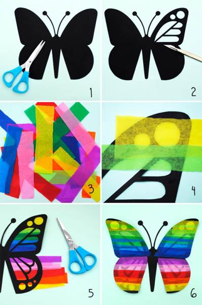 Как сделать бабочку из бумаги, бисера, проволоки своими руками 6