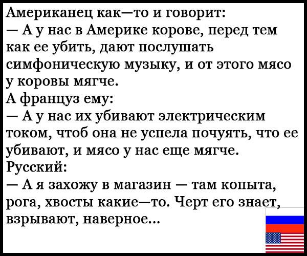 Смешные анекдоты про русских и американцев - читать бесплатно 9