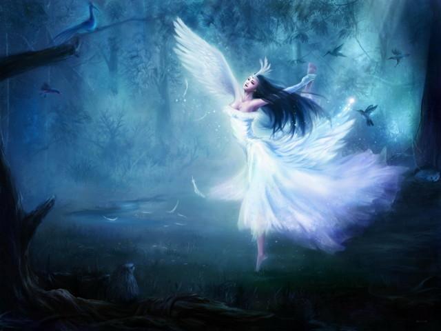 Картинки ангелов с крыльями - красивые, прикольные, интересные 8