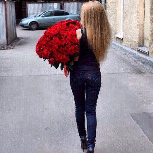 Красивые картинки девушек с цветами - смотреть, скачать бесплатно 9