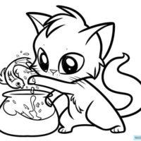Красивые картинки котов для срисовки - легкие, простые, прикольные 3