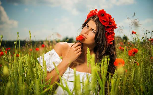 Красивые фото девушек с цветами - скачать, смотреть бесплатно 4