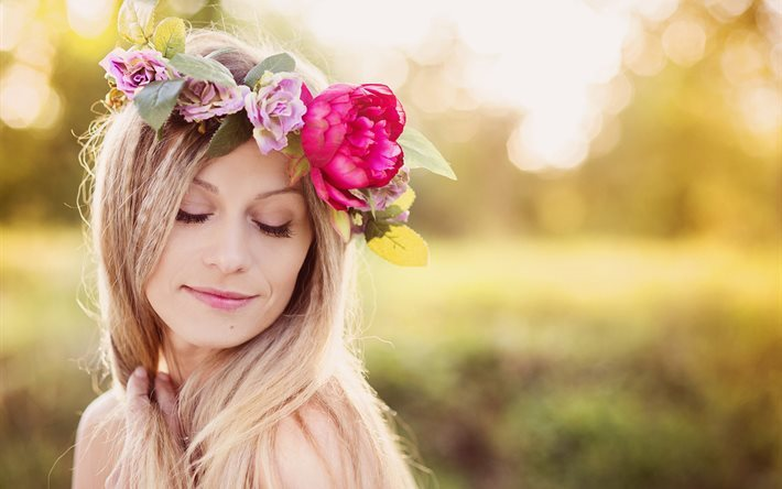 Красивые фото девушек с цветами - скачать, смотреть бесплатно 9