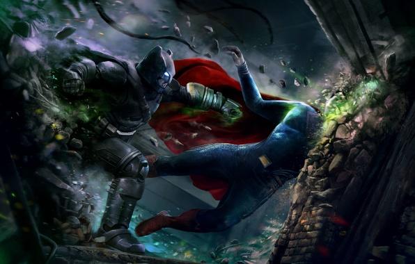 Прикольные картинки Бэтмен против Супермена - смотреть бесплатно 5
