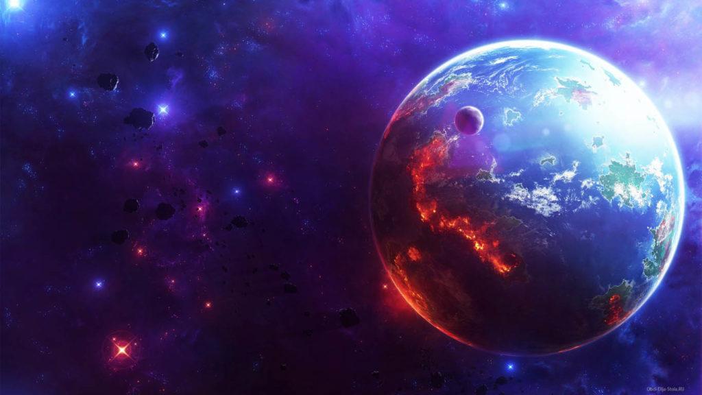 Скачать картинки на рабочий стол - космос, галактика, Земля 3