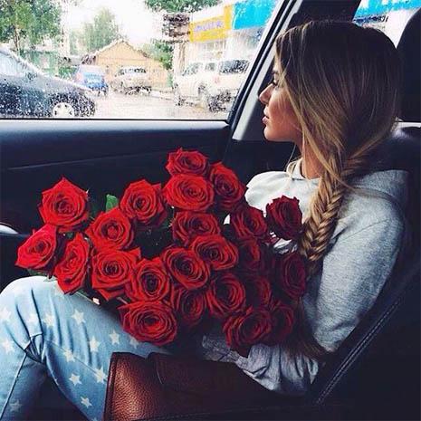 Фото девушек с цветами - красивые, прикольные, удивительные 1