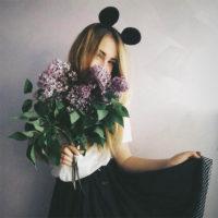 Девушки на аву без лица с цветами - красивые, прикольные, крутые 11
