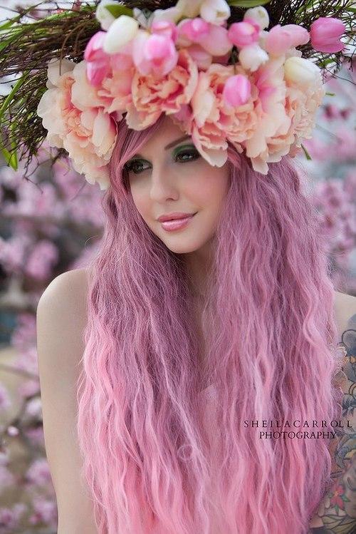 Красивые фото девушек с цветами без лица - удивительные, прикольные 2