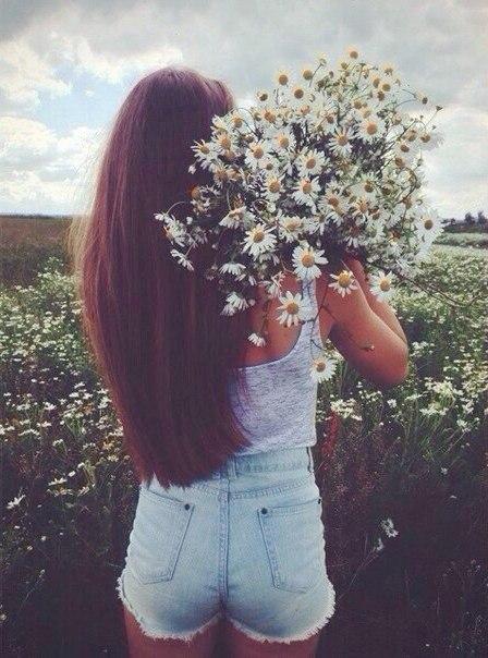 Красивые фото девушек с цветами без лица - удивительные, прикольные 6
