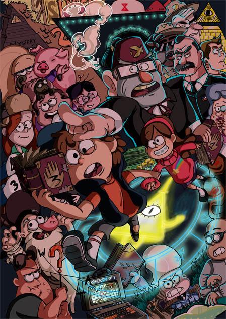 Прикольные картинки Гравити Фолз всех персонажей - подборка 7