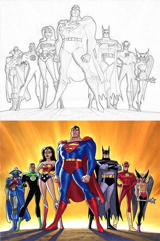 Раскраски для мальчиков Супергерои - скачать картинки, рисунки 2