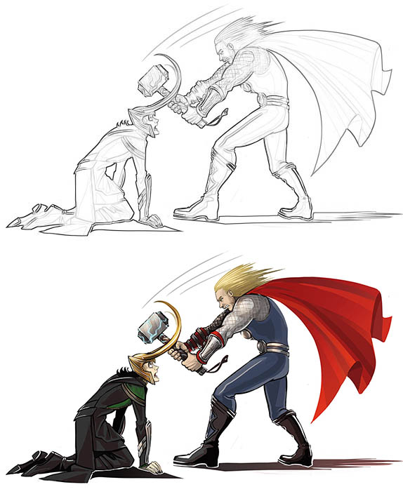 Раскраски для мальчиков Супергерои - скачать картинки, рисунки 6