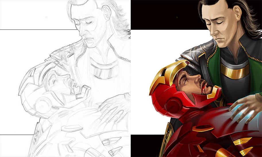 Раскраски для мальчиков Супергерои - скачать картинки, рисунки 7
