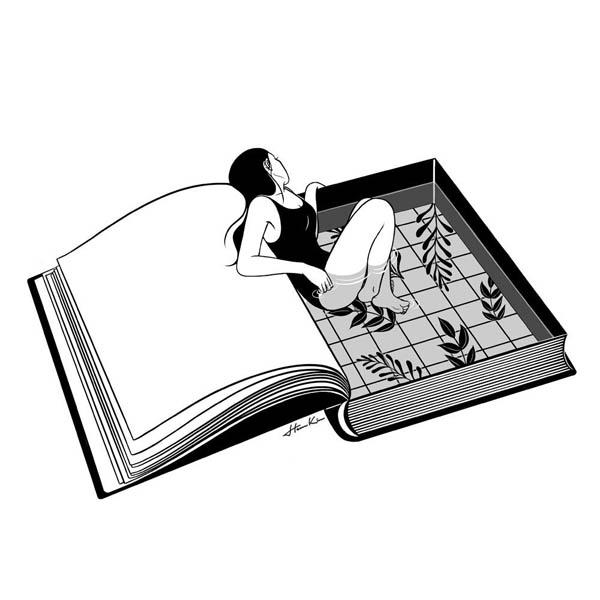 Черно-белые картинки для срисовки - красивые, легкие, простые 1