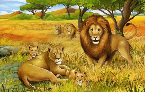 Красивые картинки львов и львиц - удивительные, прикольные и крутые 4