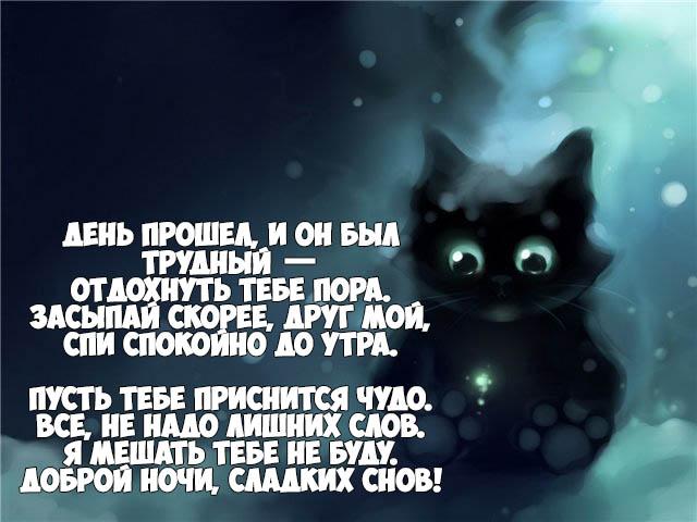 Красивые пожелание спокойной ночи другу - приятные и прикольные 6