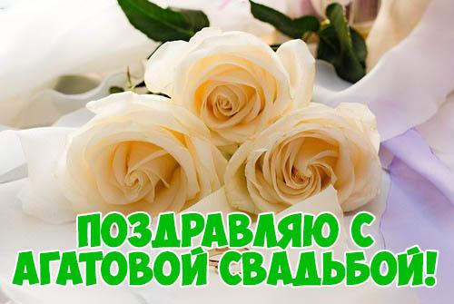Красивые поздравления с Агатовой свадьбой - открытки, картинки 11