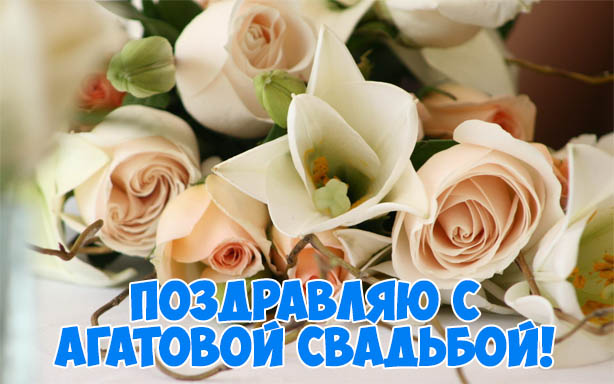Красивые поздравления с Агатовой свадьбой - открытки, картинки 8