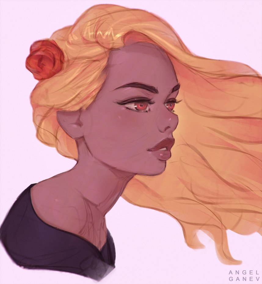 Красивые девушки для срисовки - картинки, рисунки, простые и легкие 14