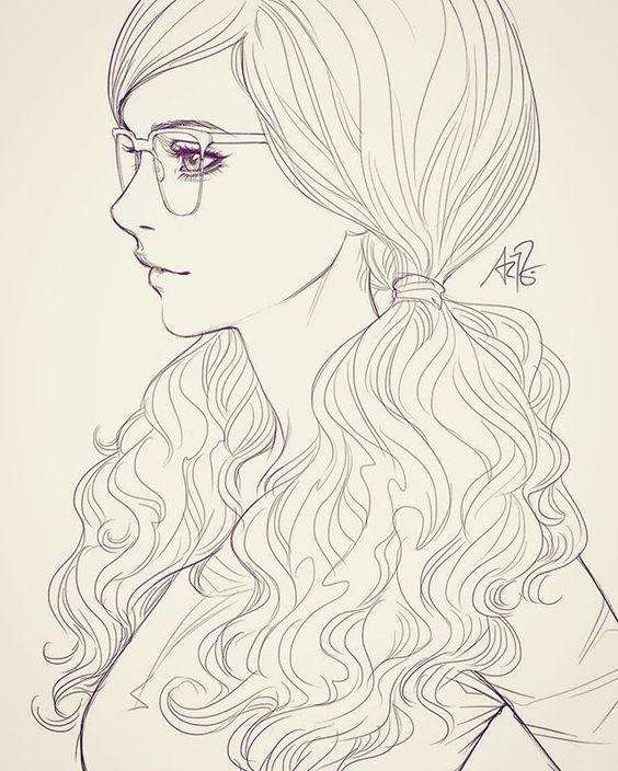 Красивые девушки для срисовки - картинки, рисунки, простые и легкие 4